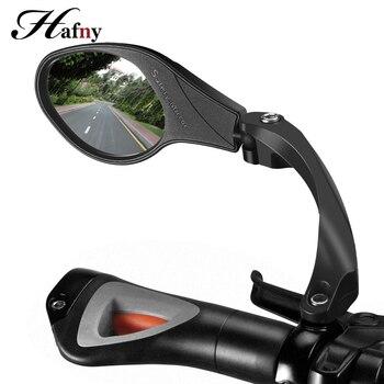 Hafny אופניים נירוסטה עדשת מראה MTB כידון צד בטיחות אחורית מראה כביש אופני רכיבה על אופניים גמיש Rearview מראות