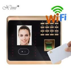 ZK UF100plus TCP/IP WI-FI лицо и отпечатков пальцев и MF карты и пароль посещаемость времени часы биометрических времени Запись