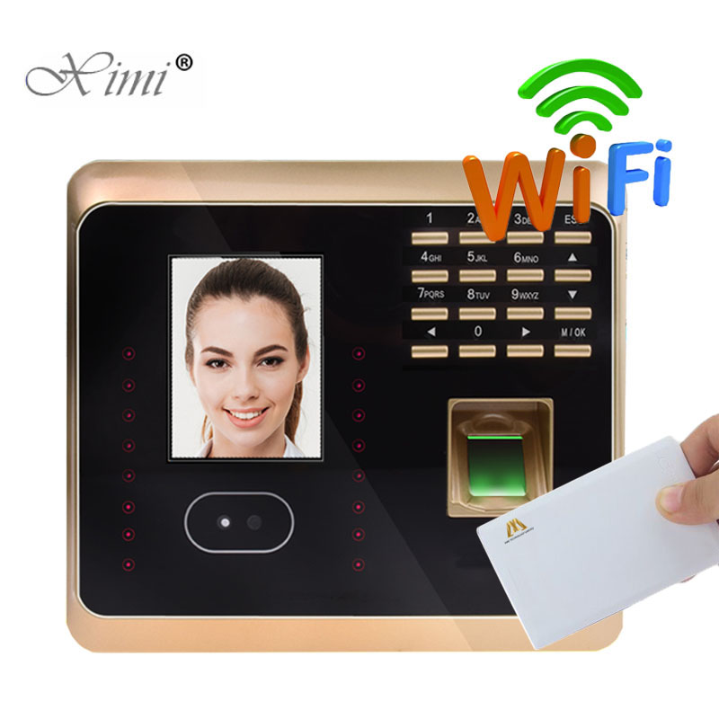 ZK UF100plus TCP/IP WIFI Face And Fingerprint And MF Card And Password Time Attendance Time Clock Biometric Time Recording