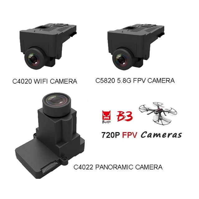 MJX C4020 WiFi FPV Camera 720P C4022 360 Degree WiFi Panoramic Camera C5820 5.8G FPV Camera for MJX B3 Bugs 3 Drone Spare Parts
