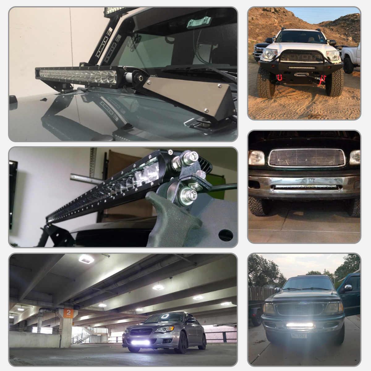 4-25 Inch LED בר LED אור בר לרכב טרקטור סירת OffRoad מכביש 4WD 4x4 משאית SUV טרקטורונים נהיגה 12 V 24 V