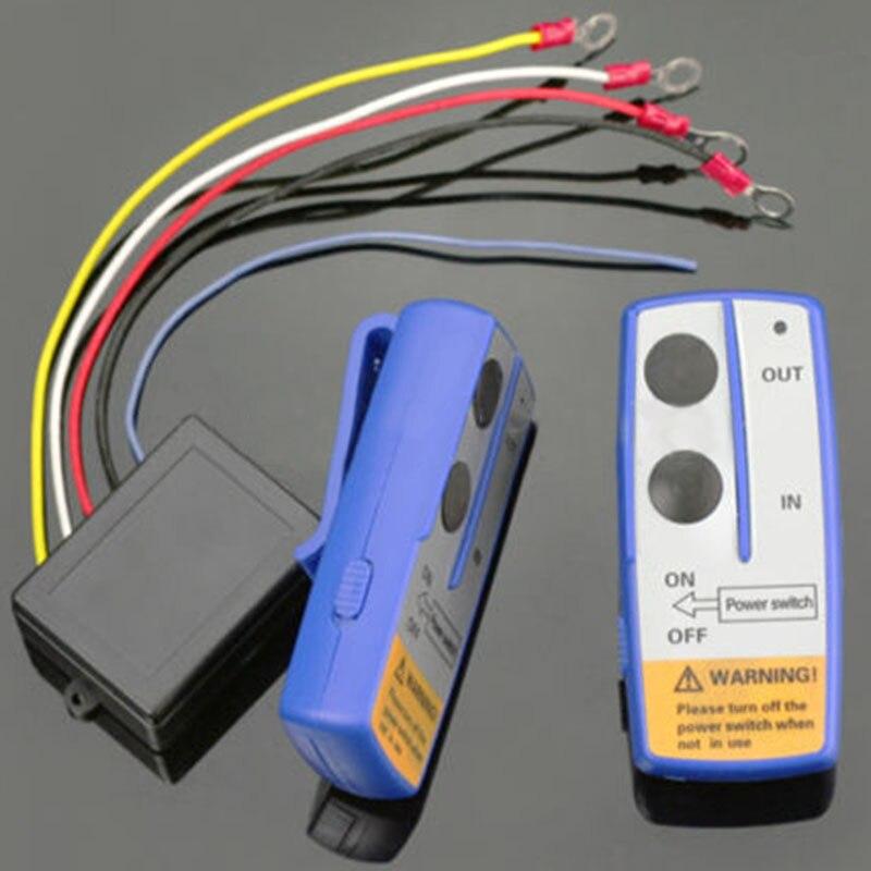 Car Styling 12V 50ft Winch Wireless Remote Control Switch Handset Kit For Jeep ATV SUV UTV