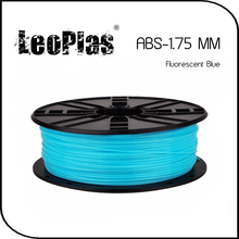 Worldwide Fast Delivery Direct Manufacturer 3D Printer Material 1 kg 2.2 lb 1.75mm Fluorescent Blue ABS Filament