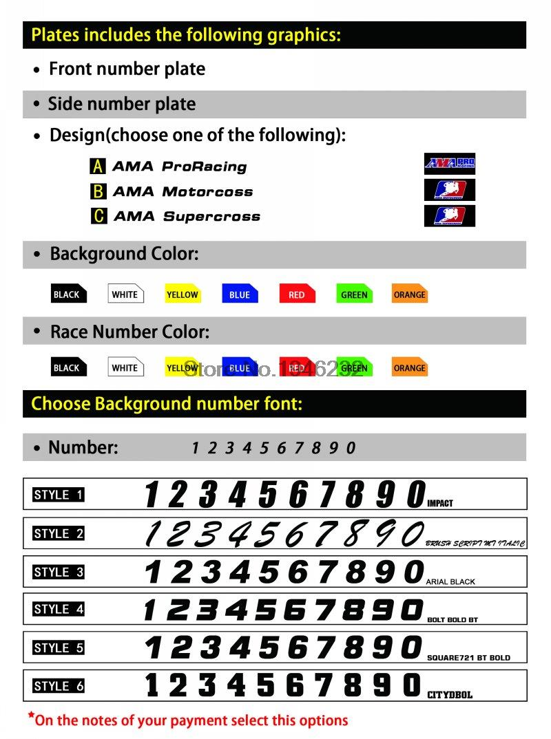 Custom Backgrounds Number Plate Graphics Sticker & Decals For YAMAHA YZ250F YZ450F 2003 2004 2005 YZF 250 450