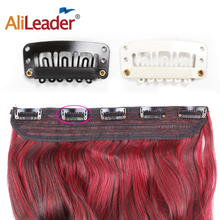 Alileader 20Pcs/Lot Snap Clips Clip In Human Hair Extensions
