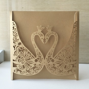35pcs Swan Greeting Blessing Wedding Invitation Card Postcard Gift Cards Pearl Paper bat/bar mitzvah Christening & Baptism