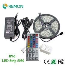 Remon Brand RGB LED Strip 5050 Flexible Waterproof IP65 60leds/m  LED Strip + 12V 5A Adapter + 44Key Remote 60leds/m
