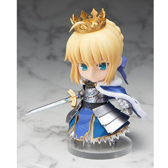 Q version Fate stay night saber Action Figure PVC Collection figures toys for christmas gift brinquedos Collectible