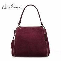 2018 Brand New Women Real Suede Leather Shoulder Bag Fashion Leisure Doctor Handbag For Female Girls