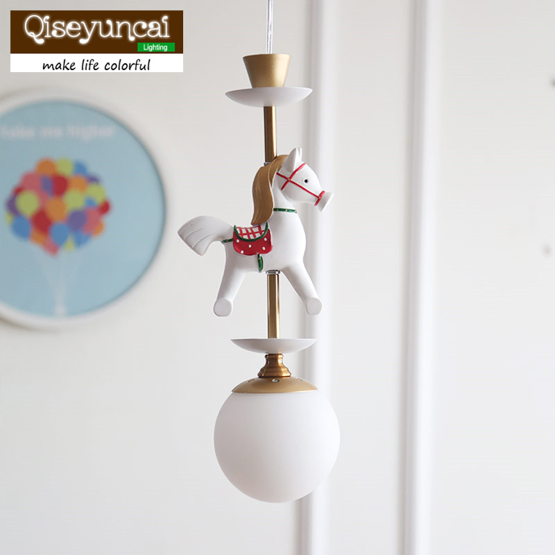 Qiseyuncai Nordic Simple Childrens Room Carousel Chandelier Bar Table Hall Restaurant Boys and Girls Bedroom LampsQiseyuncai Nordic Simple Childrens Room Carousel Chandelier Bar Table Hall Restaurant Boys and Girls Bedroom Lamps