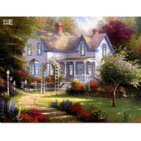 Mosaic Needlework Crafts European Style Villas Diy 3d Diamond Painting House Full Diamond Embroidery Landscape Painting