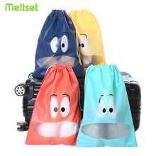 Waterproof Travel Pouch Storage Bag Portable Shoes Clothes Organizer Drawstring Underwear Sorting