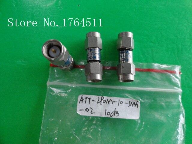 [BELLA] MIDWEST ATT-290M-10-SMA-02 18GHz 10dB 2W SMA Coaxial Fixed Attenuator  --2PCS/LOT