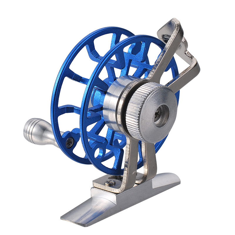 QH All Metal Belt Deflated Front Ice Fishing Wheel Fly Fishing Wheel Super Light Fish Wheel Free shipping in Fishing Reels from Sports Entertainment