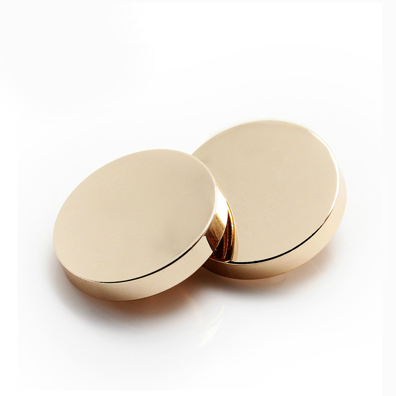 f02c4645c7 US $8.99 |10pcs 25mm Gold color metal button Round shank buttons for  garment Sewing buttons for shirt Scrapbooking accessories-in Buttons from  Home & ...