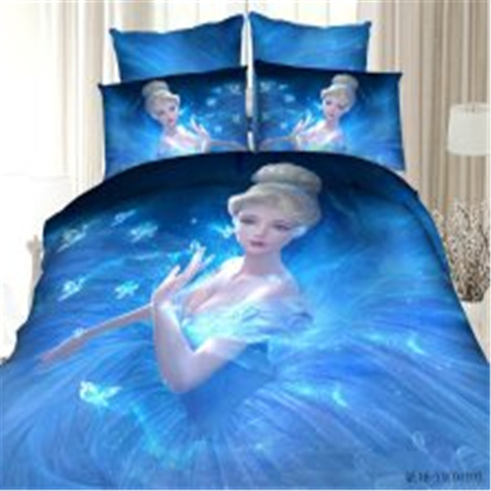 4Pcs Queen king size Luxury 3D princess Bedding sets blue color Bedclothes Comforter Cover Set Bed sheet Pillowcase for wedding4Pcs Queen king size Luxury 3D princess Bedding sets blue color Bedclothes Comforter Cover Set Bed sheet Pillowcase for wedding