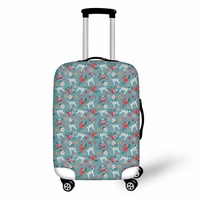 Suitcase Protective Cover For Travel High Quality Luggage Covers Dalmatian Floral Travel Trunk Case Protection Cover