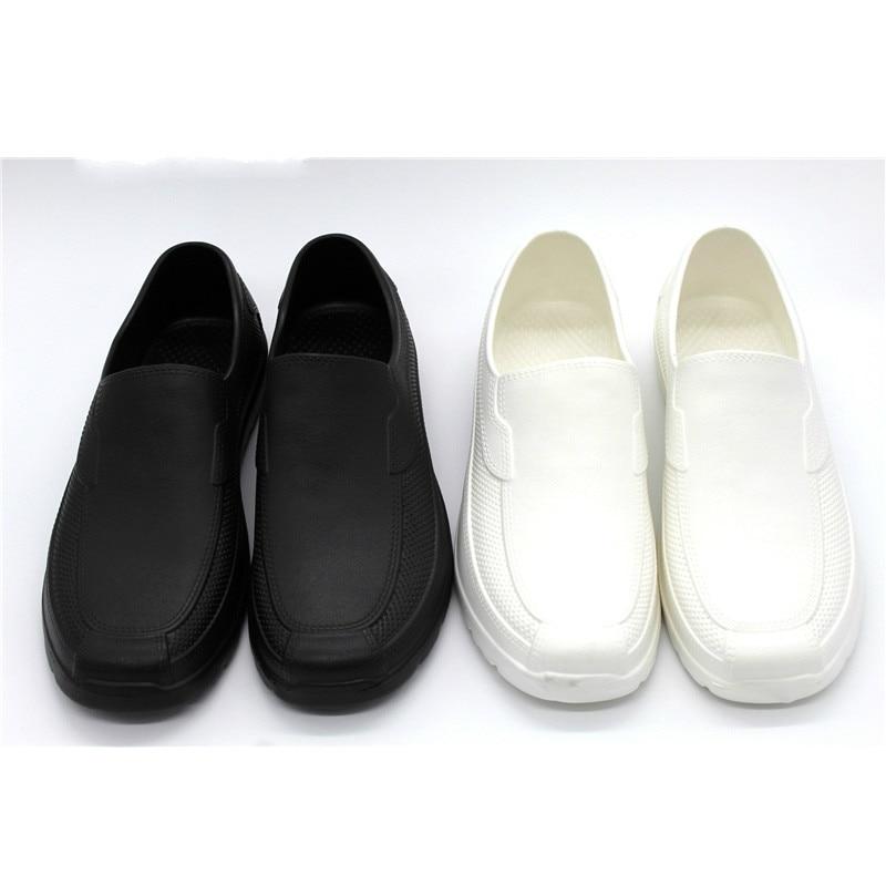 2020 Chef Shoes EVA Waterproof Black White Shoes Men Oil-proof Short Boots Non-slip Chef Shoes Rain Boots Sandalia Masculina