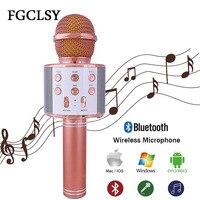 Fgclsy Беспроводной Bluetooth микрофон WS858 караоке микрофон Динамик портативного плеера mic пение Регистраторы КТВ Микрофон