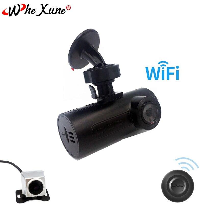 WHEXUNE WIFI voiture DVR caméra tableau de bord caméra Full HD 1080 P double lentille enregistreur vidéo avec GPS OBD ADAS vision nocturne surveillance de stationnement