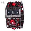 Asj marca señora pulsera relojes mujeres moda casual reloj de diamantes de oro de lujo vestido de reloj de cuarzo relogio feminino montre femme