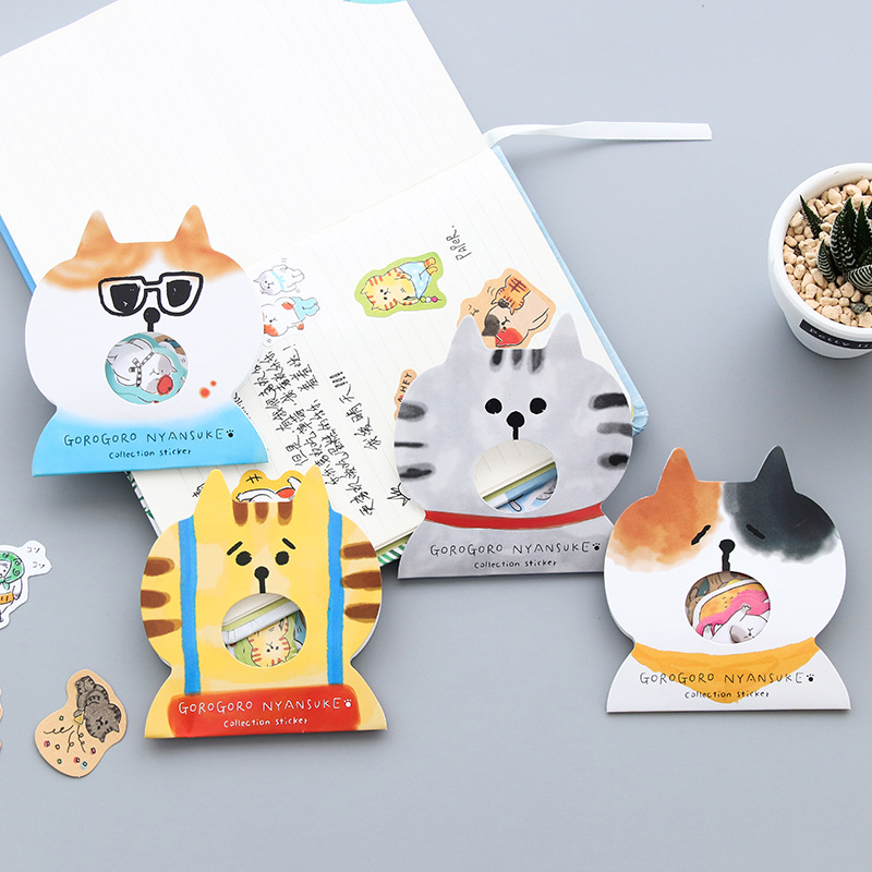 Creative Cartoon Kawaii Animal Cat Decorative PVC Stickers Scrapbooking Stick Label Diary Stationery Album Stickers