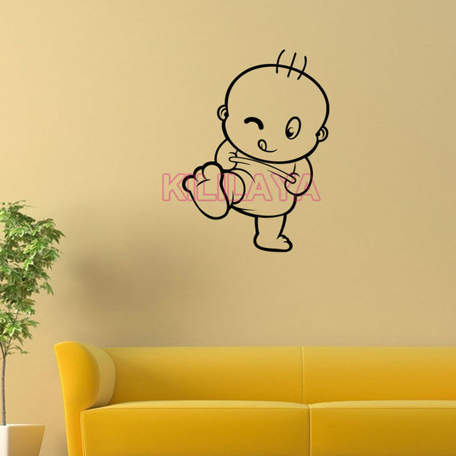 Wall Stickers for Kids Room Vinyl Wall Sticker Happy Baby Walls ...