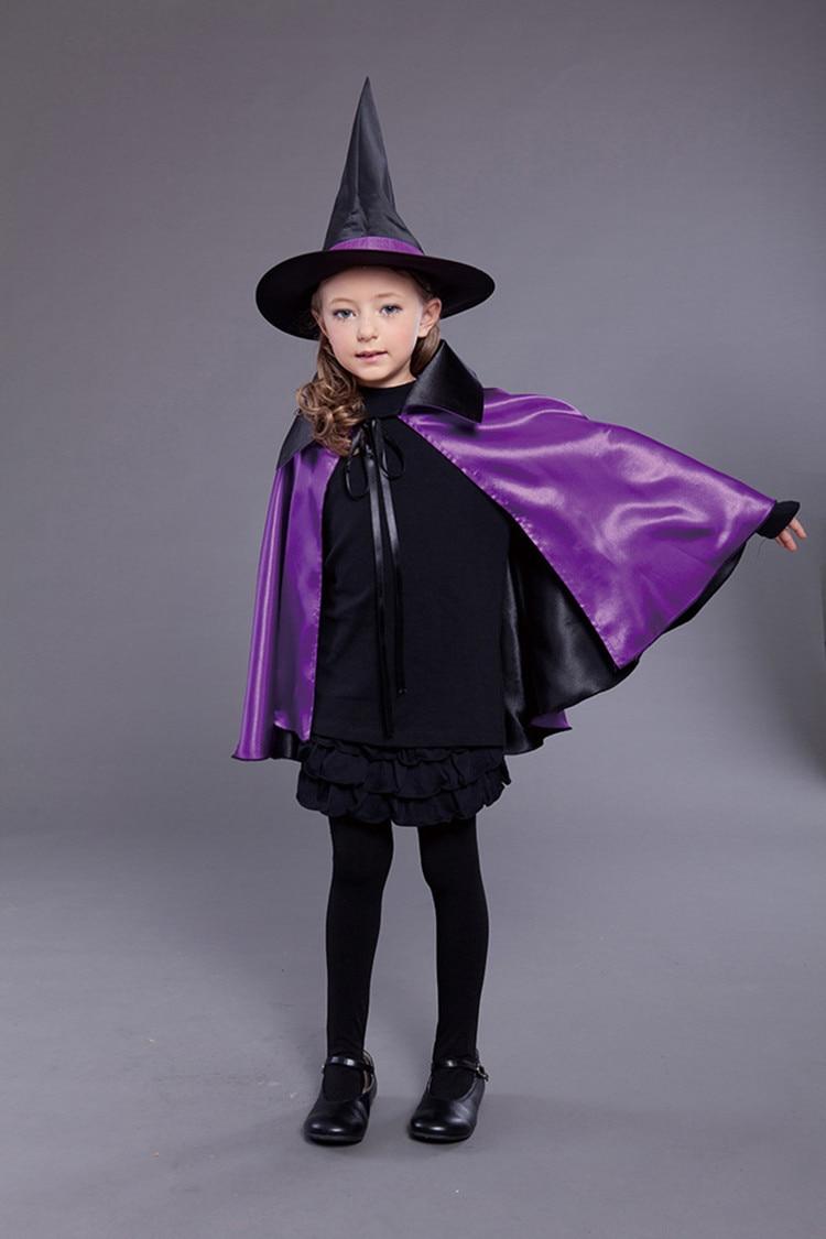 Online Shop Cool Kids Hat Halloween Prop Costume Witch Cloak Cape ...