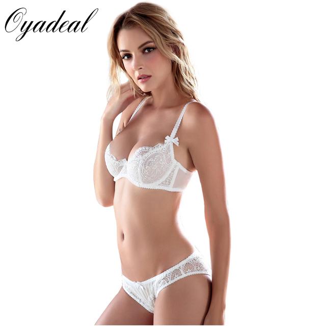 Copos ABCD Oyadeal Marca mulheres Sexy Lace Confortável Empurrar Para Cima Conjuntos de sutiã de Alta Qualidade Sutiã E Calcinha lingerie Underwear Bra conjunto
