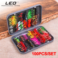 1 Set (20PCS/100PCS) Fly Fishing Bait Flies Trout Dry Fly Fishing Lure Fishing Hook Artificial Insect Bait Lure Pesca