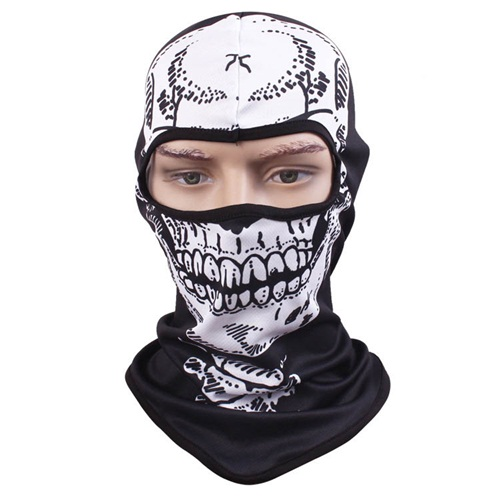 Buy Bulk 50pcs COOL Skeleton Mask Balaclava Quick Dry One Hole Black Full Face Masks Men Biker Net Mesh Skull Balaclavas Beanies cool stylish skull mask golden black