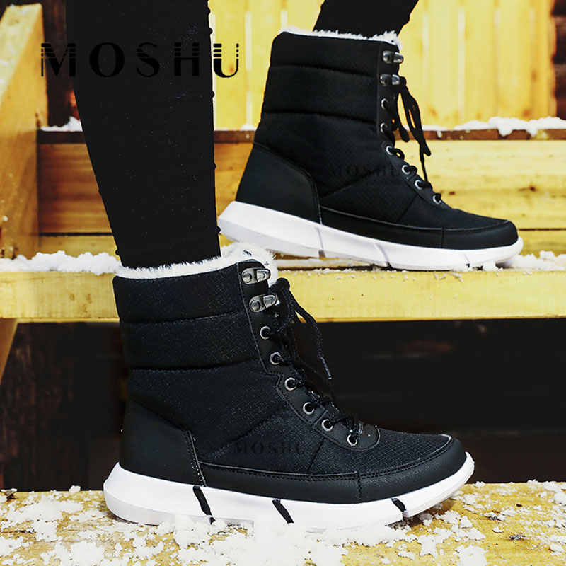 Winter Boots Men Snow Shoes with Fur Military Boots Warm Male Casual Waterproof Mid-Calf Boot Sneakers 2019 Zapatos De Hombre