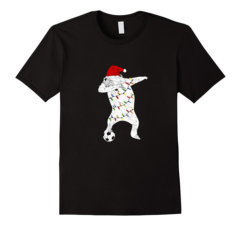 Bear Dabbing Soccering Christmas Pajamas Tshirt Dab Xmas Lights Summer Short Sleeves Fashiont Ment Shirt Summer Style