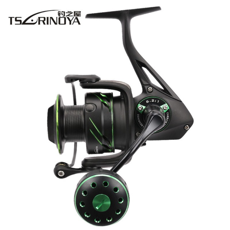 TSURINOYA FIYING SHARK 4000 5000 Size Spinning Fishing Reel 15kg Max Drag 12BB 6.2:1 Saltwater And Freshwater Spinning Wheel цена в Москве и Питере