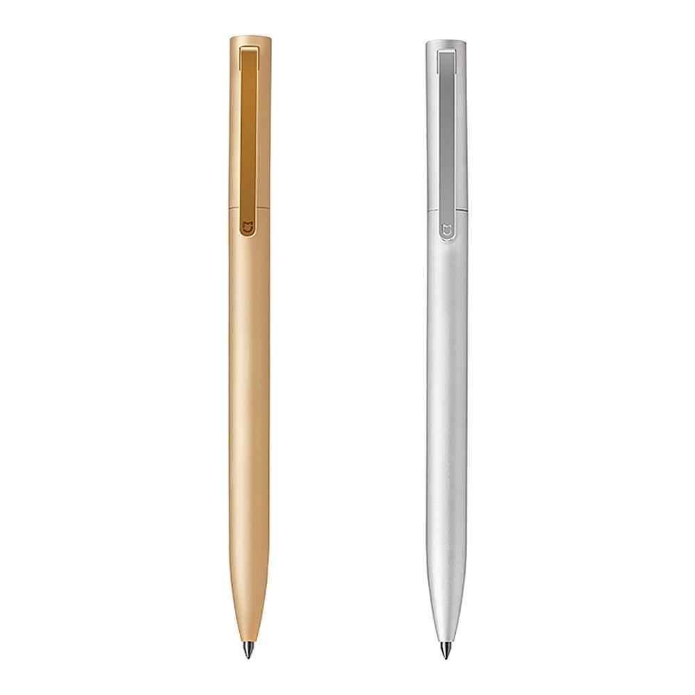 オリジナル Xiaomi Mijia 金属サインペン 0.5 ミリメートルスイス青/黒/赤インク署名学校のためにオフィスボールペン