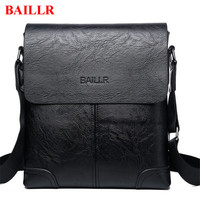 BAILLR Business Men S Handbag Famous Brand Leather Briefcases New Male Office Bags Casual Single Shoulder