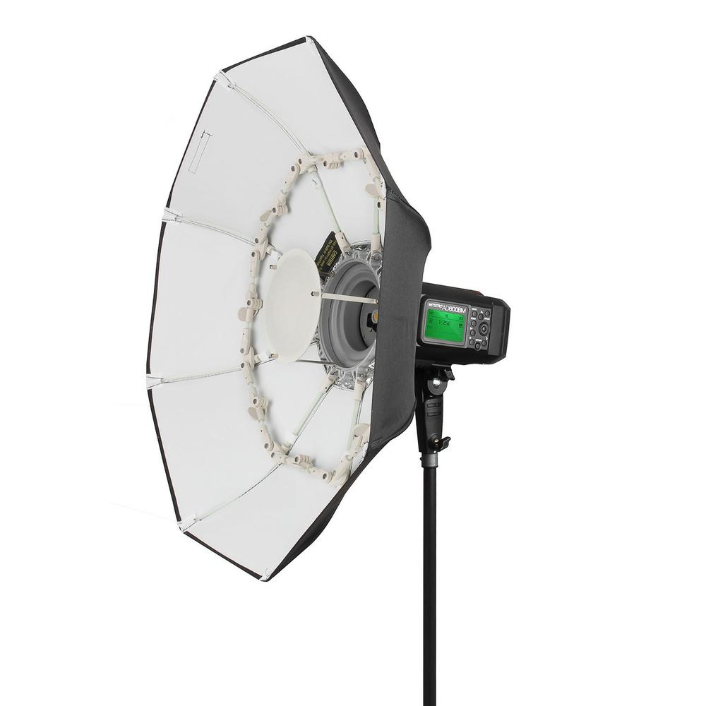 40 100CM Foldable Portable Folding Beauty Dish White With Bowens Mount for Bowens godox studio flash e.g. AD600B AD600BM