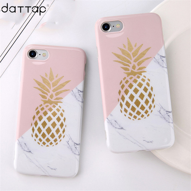 a07674b240 Gold Pineapple Marble Case For iPhone 6s Case Silicon Soft IMD Stone TPU Cover  Cases For