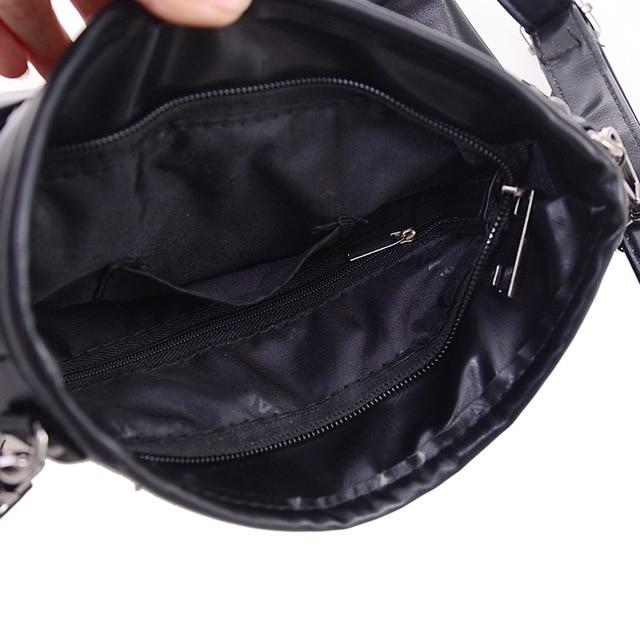 Skull Design Women Messenger Bags Handbags Shoulder Bags Satchel Clutch Girl Black Skull Crossbody Bag Bolsas Borse Feminina 5