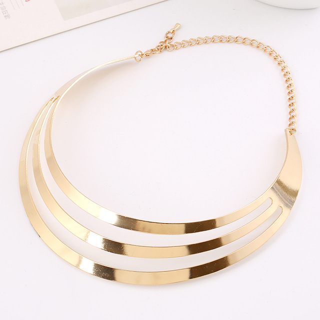 LZHLQ Rock Street Metal Hollow Punk Collar Choker Necklace Women 2019 New Personality Statement Style Collares Collier Femme