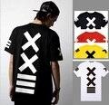 2016 Venda Apressado Broadcloth Cotton O-pescoço Curto Men Hiphop Streetwear Roupas Meninos do Hip Hop Dança Camiseta Hba Estrela Camisas