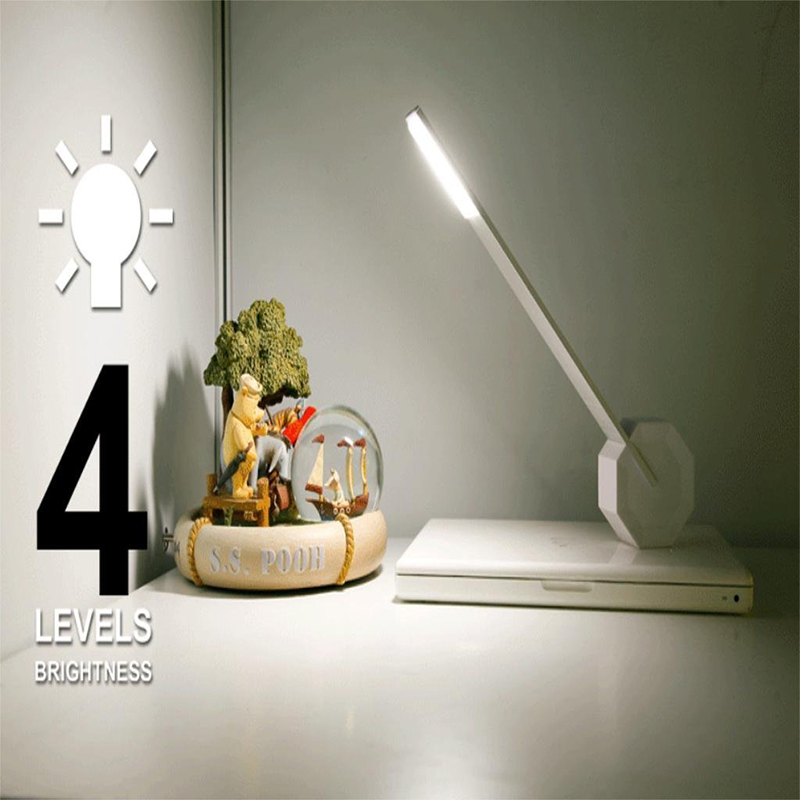 Rechargeable 4-Level Touch Dimming Brightness LED Office Table Desk Lamp Bedside Reading Light for Study Engineer Architect 4 level brightness led office table desk lamp touch dimming rechargeable bedside reading light for study engineer architect