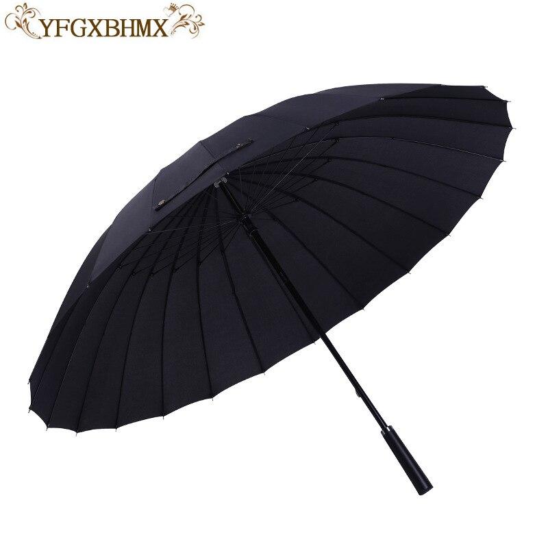 Coupe-vent en fibre de verre cadre en bois Long manche Parapluie Portable pluie Parapluie hommes qualité 24 K forte femmes Parapluie 50RY302