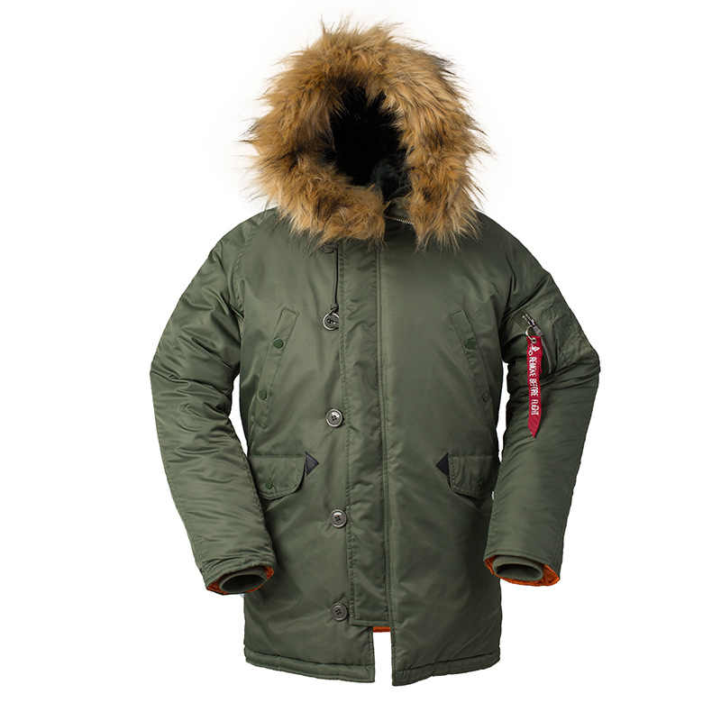 Gorro de piel militar GEJIAN warm ditch camuflaje táctico bombardero ejército Corea del Sur abrigo de invierno puffer chaqueta para hombre abrigo largo