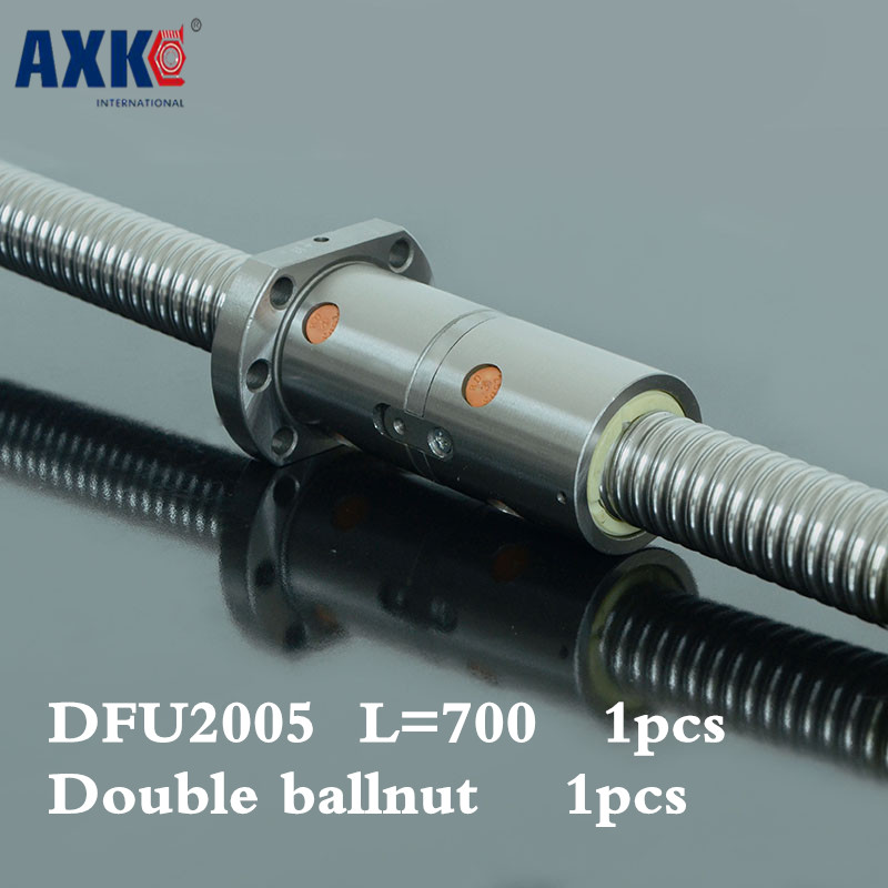 2018 Limited Promotion Steel Bearing Cnc Rolled Ballscrew 2005 -l 750mm Dfu2005 Ball Screw With One Double Ballnut 2018 top fashion new steel thrust bearing 2pcs cnc rolled ballscrew 2510 l 2500mm dfu2510 ball screw with double ballnut
