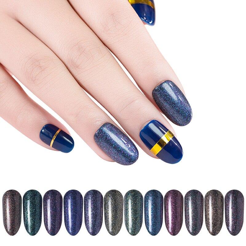 Nails Art & Werkzeuge FleißIg 12 Farben/set Glänzende Starry Sky Nagel Glitter Holograhic Galaxy Bunte Pigment Sparkly Laser Diamant Pulver Maniküre Werkzeuge