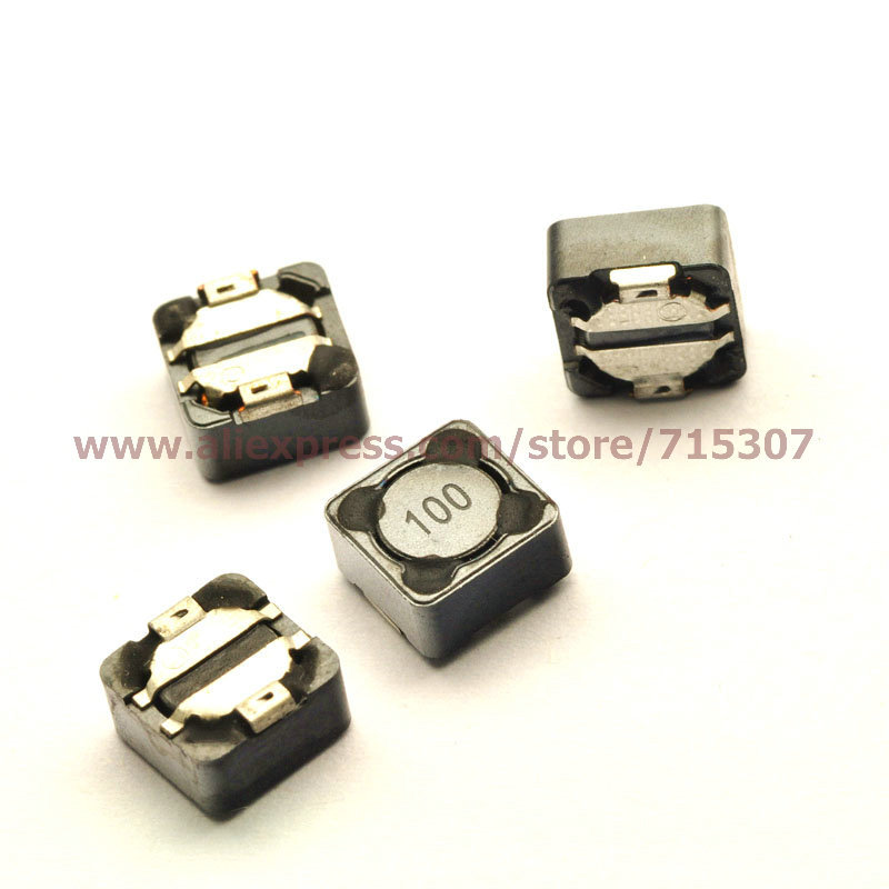 PHISCALE 30pcs of smd shielded power inductor 10UH 100 7*7*4