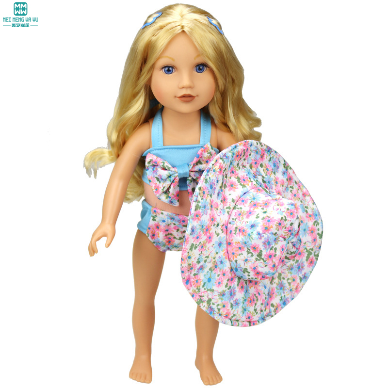 Doll Accessories Fashion swimsuit Clothes for dolls fits18 inch 45cm American girl [mmmaww] christmas costume clothes for 18 45cm american girl doll santa sets with hat for alexander doll baby girl gift toy