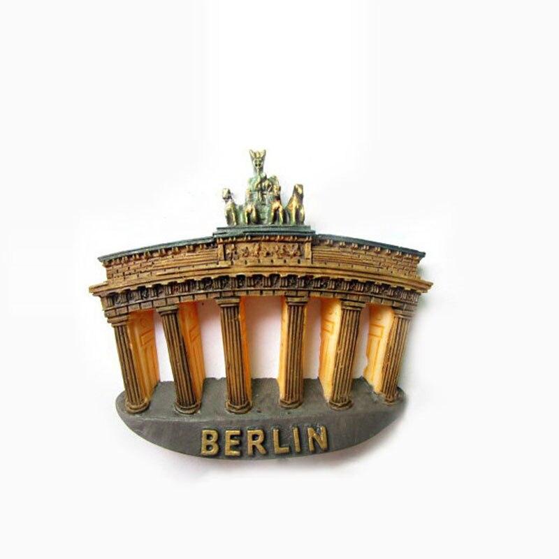1 pc Allemagne Berlin Brandenburger Tor En Forme de Réfrigérateur Aimants Touristiques Souvenirs Réfrigérateur Magnétique Autocollants Décor À La Maison