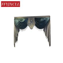 Europe Embroidered Luxury Window Valance Curtains for Living Room Window Curtains Blackout for Bedroom Kitchen Home Decor luxury europe embroidered window curtains for living room bedroom blackout tulle curtains window pastoral home decor